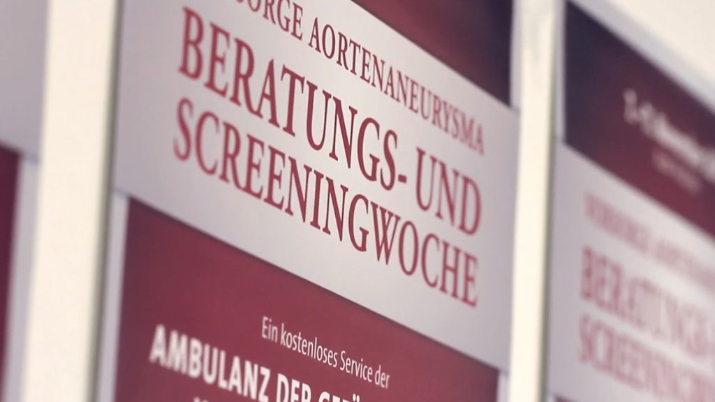Gefäßvorsorge: Aneurysma-Screening 4.-8.Nov 2019